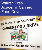 Community Events - Warren Prep Academy Canned Food Drive