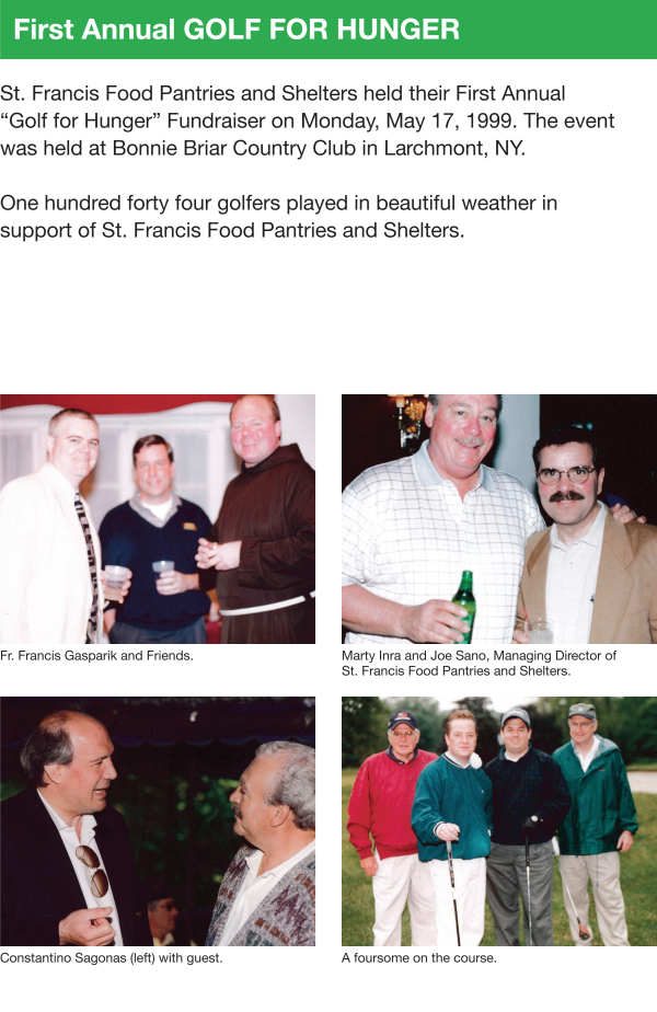 Fundraising - Golf for Hunger & Pool Party 1999