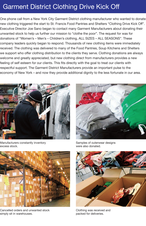Community Programs - Garment District Clothing Drive Kick-Off