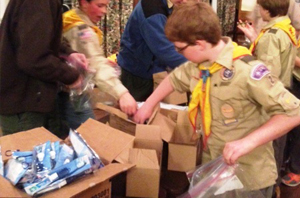 St Francis Food Pantries Amp Shelters Boy Scouts Prepare