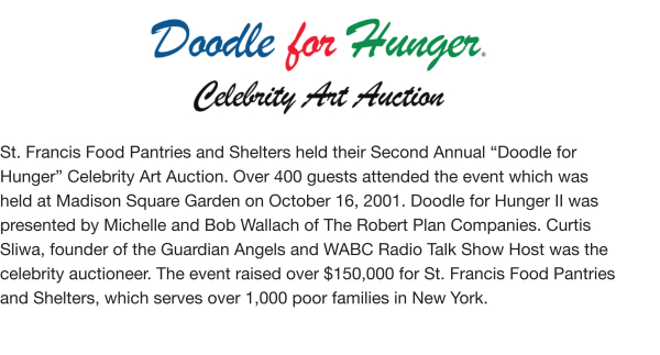 Fundraising - Doodle For Hunger II, 2001