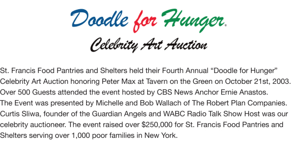 Fundraising - Doodle For Hunger IV, 2003