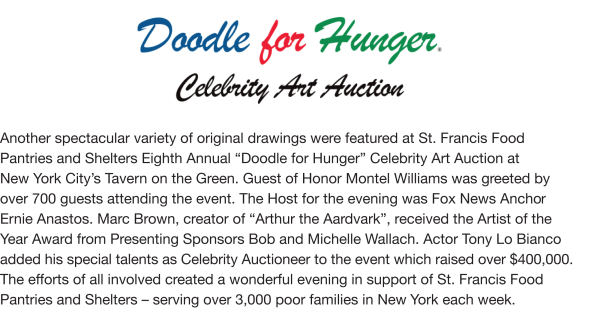 Fundraising - Doodle For Hunger VIII, 2007