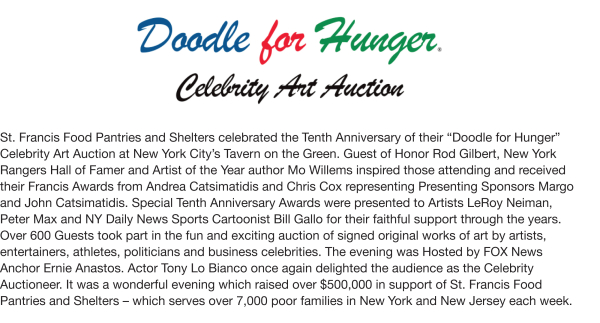Fundraising - Doodle For Hunger X, 2009