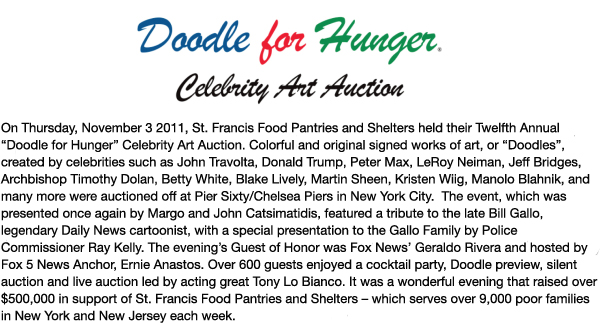 Fundraising - Doodle For Hunger XI, 2010