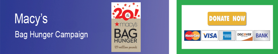 Macy's Bag Hunger - Donation banner