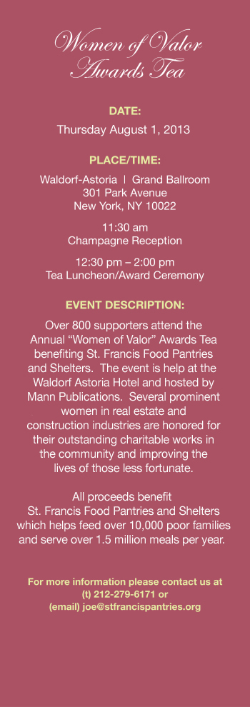 Fundraising - Women of Valor Awards Tea